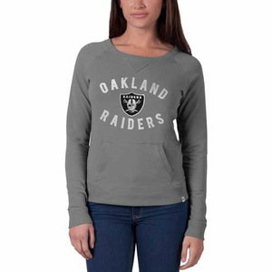 Oakland Raiders '47 Brand Womens On Campus Crew - Click to enlarge