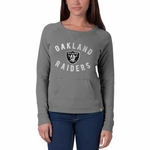Oakland Raiders '47 Brand Womens On Campus Crew