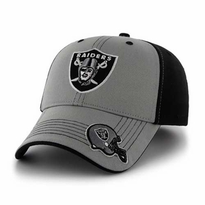 Oakland Raiders '47 Brand Youth Black Revolution Cap - Click to enlarge