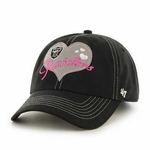 Oakland Raiders '47 Brand Youth Heart Throb II Cap
