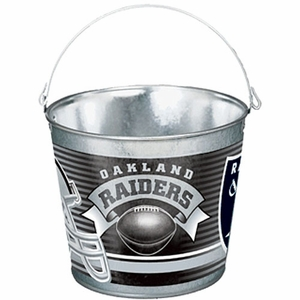 Oakland Raiders Five Quart Metal Pail - Click to enlarge