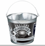 Oakland Raiders Five Quart Metal Pail