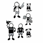 Oakland Raiders 5 X 7 Family Decal Set