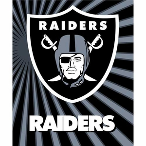 Oakland Raiders 50 x 60 Strobe Sherpa Throw - Click to enlarge