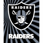 Oakland Raiders 50 x 60 Strobe Sherpa Throw
