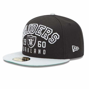 Oakland Raiders 59Fifty Word Knock Fitted Cap - Click to enlarge