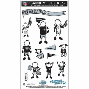 Oakland Raiders 6 x 11 Family Decal Set - Click to enlarge