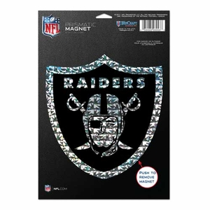 Oakland Raiders 6 x 9 Prismatic Magnet - Click to enlarge