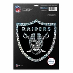 Oakland Raiders 6 x 9 Prismatic Magnet