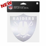 Oakland Raiders 6x6 Perfect Cut Chrome Decal