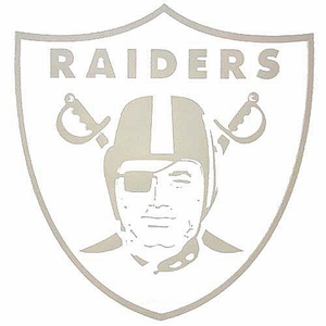 Oakland Raiders 8 x 8 Inch Die Cut Logo Decal - Click to enlarge