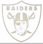 Oakland Raiders 8 x 8 Inch Die Cut Logo Decal