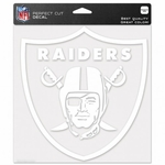 Oakland Raiders 8 x 8 Perfect Cut Shield Decal
