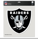 Oakland Raiders 8 x 8 Shield Logo Die Cut Decal