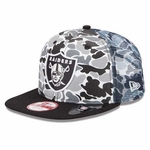 Oakland Raiders 9Fifty Camo Face Cap