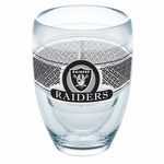 Oakland Raiders 9oz Stemless Wine Glass