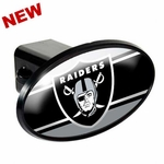 Oakland Raiders ABS Plastic Oval Hitch Cover