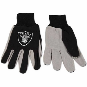 Oakland Raiders Adult Gloves - Click to enlarge