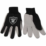 Oakland Raiders Adult Gloves