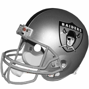Oakland Raiders AFL Logo Replica Helmet - Click to enlarge