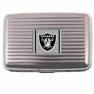 Oakland Raiders Aluminum Wallet - Click to enlarge
