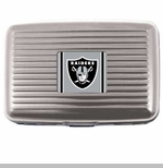 Oakland Raiders Aluminum Wallet