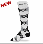 Oakland Raiders Argyle Repeat Sock