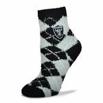 Oakland Raiders Argyle Soft Socks
