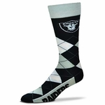 Oakland Raiders Argyle Team Sock