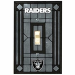 Oakland Raiders Art Glass Switch Plate Cover