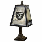 Oakland Raiders Art Glass Table Lamp