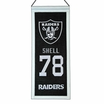 Raiders Art Shell Mini Legacy Banner