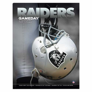 Oakland Raiders August 23rd Game Day Program vs. Chicago Bears - Click to enlarge
