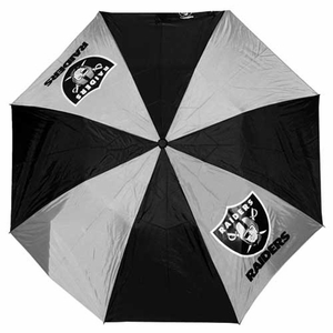 Oakland Raiders Auto Folding Umbrella - Click to enlarge