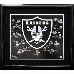 Oakland Raiders Autographed Hall of Fame Collage - Click to enlarge