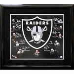 Oakland Raiders Autographed Hall of Fame Collage