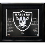 Raiders Autographed Hall of Fame Framed Crest
