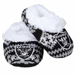 Oakland Raiders Aztec Baby Booties