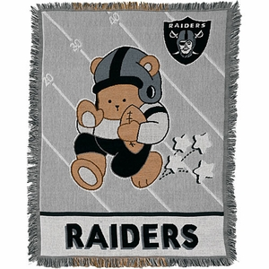 Oakland Raiders Baby Blanket - Click to enlarge