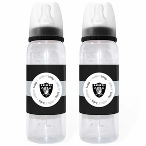 Oakland Raiders Baby Bottle Two Pack Set - Click to enlarge