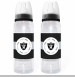 Oakland Raiders Baby Bottle Two Pack Set