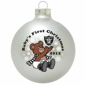 Oakland Raiders Baby's First Christmas Ornament - Click to enlarge