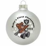 Oakland Raiders Baby's First Christmas Ornament