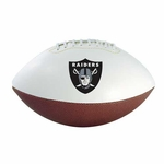 Oakland Raiders Wilson NFL Team Logo Autograph Football