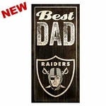 Oakland Raiders Best Dad Wood Sign