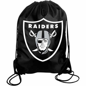 Oakland Raiders Big Logo Drawstring Bag - Click to enlarge