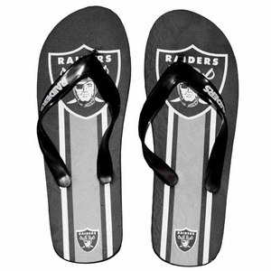Oakland Raiders Big Logo Flip Flops - Click to enlarge