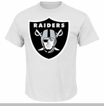 Oakland Raiders Big Shield Logo White Tee