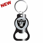 Oakland Raiders Black Bottle Opener Keychain