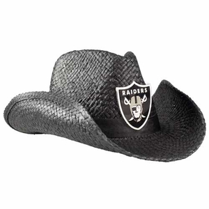 Oakland Raiders Black Cowboy Hat - Click to enlarge